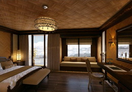 King Size Bed, Long Sofa, Bathroom With Bathtub And Separate Shower. The  Cabins Are Equipped With Air Conditioning, Wardrobe, Writing Desk, Sofa,  Mini Bar, ...