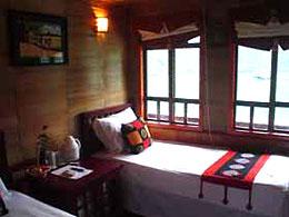 Twin cabin in An Nam junk