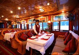 Halong Phoenix cruiser's dining room