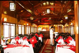 Dining room in Halong Royal Cruise