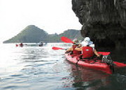 Kayaking with Halong Princess Junk