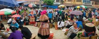 Tourists are enjoying Sapa and Bac Ha Market 3-day Tour