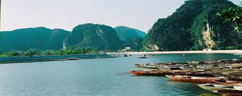 Tourists are enjoying Hoa Lu - Tam Coc: A Halong Bay in land - TL204