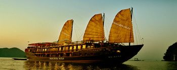 Tourists are enjoying Halong Bay cruise with Indochina Sails - TL108