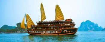 Tourists are enjoying Halong Bay tour with Victory Cruise - TL109