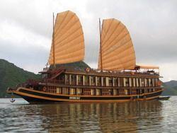Tourists are enjoying Indochina Sails