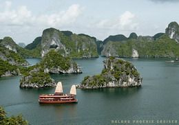 Tourists are enjoying Halong Phoenix Cruiser