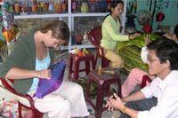 TOURISTS IN Lantern Making Tour