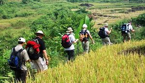 Travelers with Free and Easy Vietnam Soft-adventure Tour