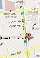 Click here to enlarge the map and find Tuan Linh Travel office in Hanoi, Vietnam