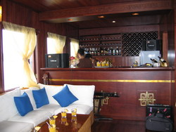 Luxury bar in Indochina Sails, Halong Bay Cruise, Vietnam tours, Tuan Linh Travel