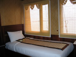 Bed room for guests in Indochina Sails, Halong Bay Tours, Vietnam Tuan Linh Travel
