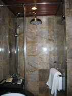 Glass-bathroom in Indochina Sails, Halong Bay, Vietnam tours, Tuan Linh travel