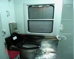 King Express train's toilet