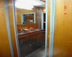 King Express train's washing room