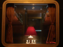 Cabin in Royal train, a tourist train to Sapa, Lao Cai, Vietnam