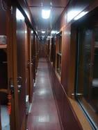 Corridor in Royal train from Hanoi to Sapa
