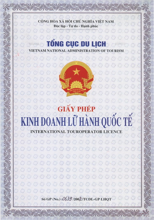 Tuan Linh Travel's Tour Operator License